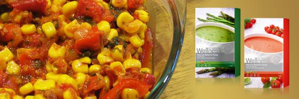 Закуска из кукурузы и красного перца