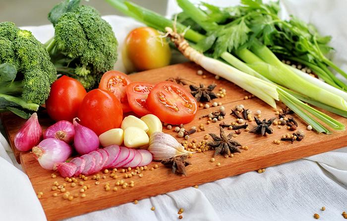 Полноценный обед из овощей