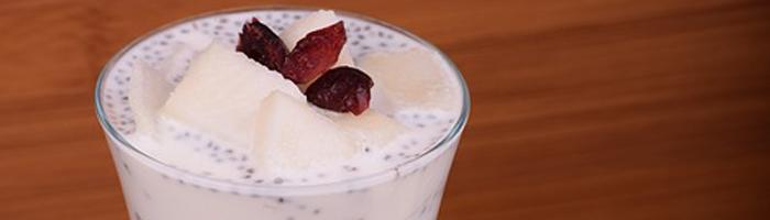 Десерт «Груша с миндалем»