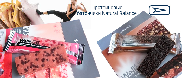 Протеиновые батончики Natural Balance Wellness