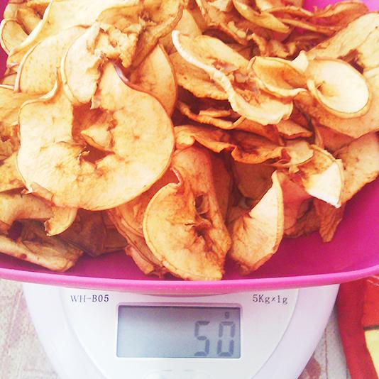 Яблоко сушеное 50 грамм. Чипсы